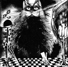 Begemot from Master & Margarita Black N White Images, Black And White, The Master And Margarita, Gustav Klimt, Various Artists, Popular Culture, Rubrics, Literature, Batman