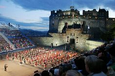 "Edinburgh Castle - Edinburgh, Scotland. Every summer there is a ""Military Tattoo"" band contest at the Castle."