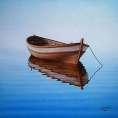 Fishing Boat I Painting by Horacio Cardozo