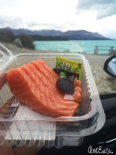 Mt. Cook Fresh Salmon Sashimi, The best one in the world!