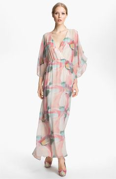 Alice   Olivia Print Silk Maxi Dress available at #Nordstrom
