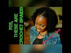 Crochet Braid Wash & Go   Her Given Hair Update! - YouTube