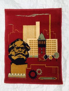 Wandteppich DDR Karl-Marx-Stadt
