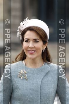 28-03-2017 Denmark Princess Mary during the official welcome at Copenhagen Airport on the first day of a three days State visit of the Belgian royal couple to Denmark in Copenhagen.     © PPE/Christophersen
