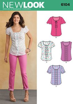 Misses Tops Button Up Gauze view b.  cotton. maybe black grey dot view c