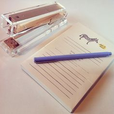 Le Pen — Periwinkle (Set of Twelve) Desk Stationery, Gold Everything, Stapler, Desk Accessories, Periwinkle, Getting Things Done, Gifts, Design, Home Decor