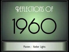 Reflections Of 1960 - 1964 ♫ ♫ [500 Songs] - Two hours of going back in time..... ~ https://www.youtube.com/watch?v=I-LpGgG-J7w