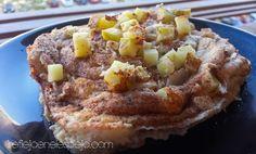 Tarta de manzana fitness al microondas | mi reflejo de la 48 a la 36