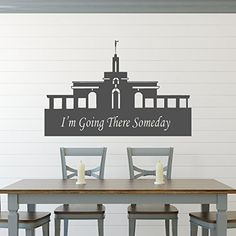 "Latter-day Saints regard their temples as sacred symbols of worship. Faithful Mormons teach their children about the importance of preparing for the temple, including by singing the Primary song: ""I Love To See The Temple"". This vinyl wall decal will remind you and your family of the importance of focusing on the temple and what it represents. This decal represents the Mount Timpanogos Temple, with the words ""I'm Going There Someday"" included along the bottom of the temple."