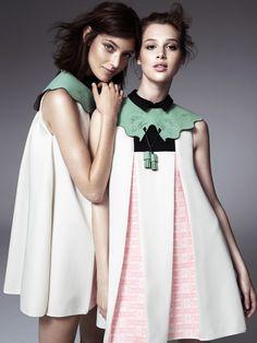 Anais Pouilot & Marikka Juhler Wear the 2013 H&M Design Award Winner's Collection - Fashion Show Foto Fashion, Fashion Beauty, Fashion Looks, Womens Fashion, Paris Fashion, Fashion Details, Fashion Design, Fashion Trends, H&m Collaboration