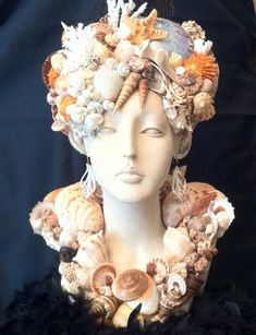 #mosaic #bust , #sea #shells