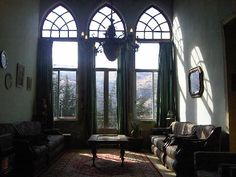 Interior of a typical Lebanese home - Tannourine.