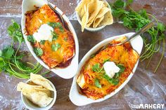 Savory Homemade Turkey Enchiladas   Camp Makery (what a great way to use all that leftover Thanksgiving turkey)