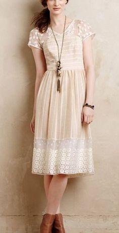 Anthropologie Poema Lace Dress == @scrapwedo