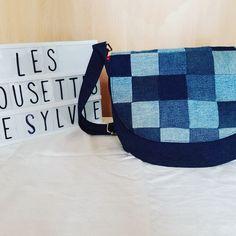 """Sylvie sur Instagram: Deux besaces """"Musette"""" de @patrons_sacotin cousues ce week-end. Tissu extérieur Jean des @lescouponsdesaintpierre , doublure des tissus de…"""