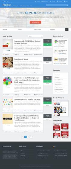 Taskerr Responsive WordPress Micro Jobs Theme for Jobs Portal Site