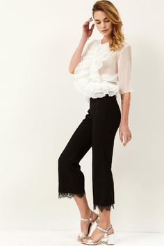 Kelly Lace Hemline Pants Discover the latest fashion trends online at storets.com