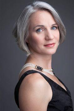 DMG - Dallas Model Management  Mature female model with gray hair.  KORI HENDRIX