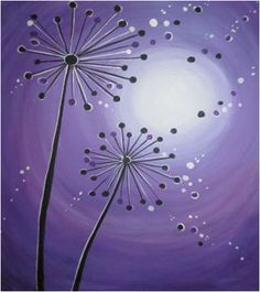 dandelion painting | ... Events | Painting Classes | Painting Calendar | Paint and Wine Classes