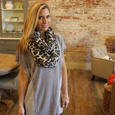 Leopard print infinity scarf Leopard print infinity scarf LT55605 Accessories Scarves & Wraps