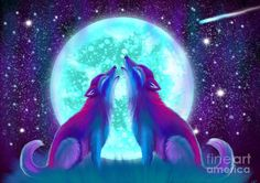Howling Together Painting by Nick Gustafson
