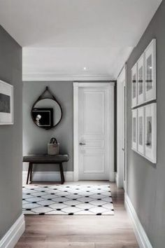 ideas for living room paint colora ideas inspiration grey walls Grey Walls Living Room, Living Room Colors, Living Room Paint, Living Room Decor, Gray Walls, Living Rooms, White Walls, Grey Interior Doors, Grey Doors
