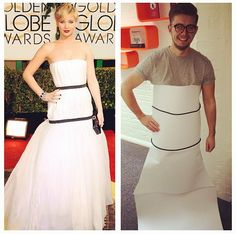 Meme of the day: designer @Elliot Arthur #lawrencing in paper and cables #TBGculture