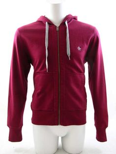 Original Penguin Secret Sam Zip Hoodie Tibetan Red £65