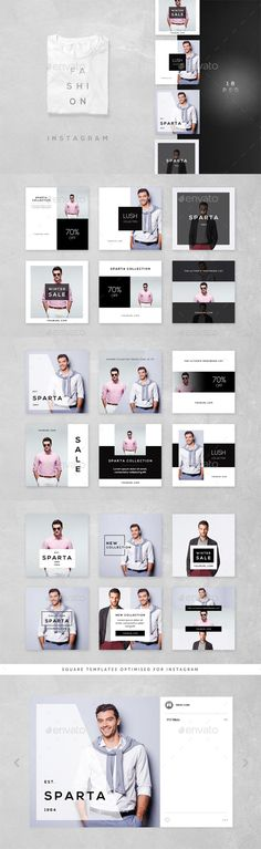 Fashion Instagram - 18 Designs - Social Media Web Elements