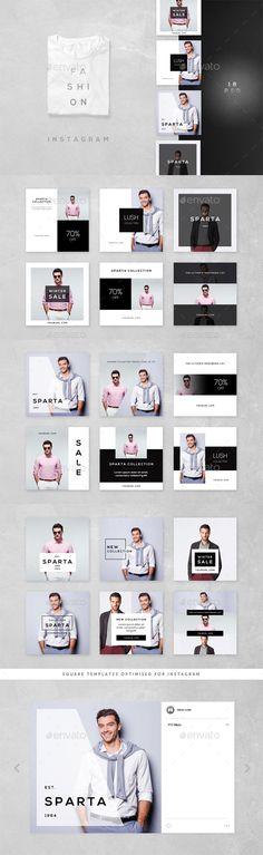 Fashion Instagram 18 Designs — Photoshop PSD #promotional #deal • Download ➝ https://graphicriver.net/item/fashion-instagram-18-designs/19074229?ref=pxcr