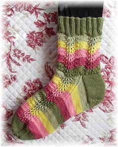 Ravelry: Peace Rose Garden Socks pattern by Diane Edgerly