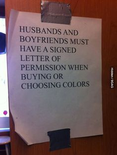 """""""Saw this notice at a paint shop."""" All paint shops should have this!"""