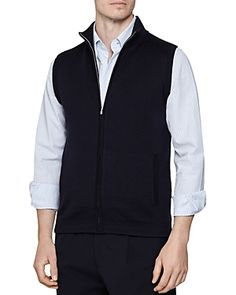 Reiss Mateo Sleeveless Vest In Navy Reiss, Men Looks, Mens Fashion, Navy, Jackets, Shopping, Clothes, Style, Men Fashion