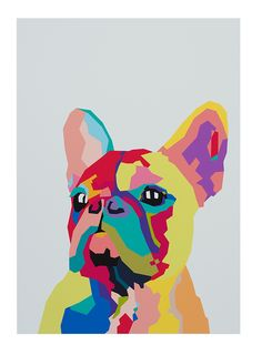 RASCAL THE FRENCHIE UNFRAMED PRINT A3
