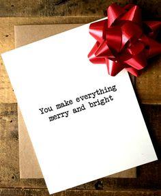 Boyfriend Christmas Card  Husband Christmas by SeptemberProject