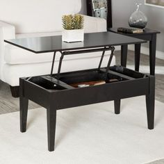 Turner Lift Top Coffee Table Black Marble