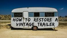 and Restoring a Vintage Travel Trailer Tips and tricks on how to score a sweet vintage camper and how to renovate it once you've found it.Tips and tricks on how to score a sweet vintage camper and how to renovate it once you've found it. Trailers Camping, Vintage Campers Trailers, Retro Campers, Vintage Caravans, Camping Car, Camper Trailers, Vintage Motorhome, Family Camping, Camping Ideas