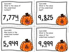 Place Value to the Thousands Place - Adorable task cards to get your kids up and practice identifying place value! Math Worksheets, Math Resources, Math Activities, Classroom Resources, Teaching Math, Teaching Ideas, Maths, Math Math, Guided Math