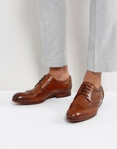 0ec5dbcdc Ted Baker Granet Leather Brogue Shoes In Tan