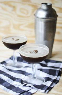 Homemade espresso martini