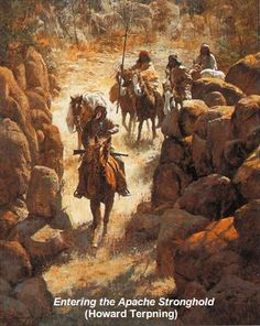 Entering the Apache Stronghold (Howard Terpning)