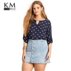 94525ff7a8e Kissmilk 2017 Plus Size Women Summer Fashion Animal Print Casual Tops Big  Large Size Chiffon Blouse
