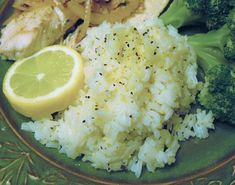 Lemon Rice Recipe - used fresh herbs and no lemon pepper seasoning