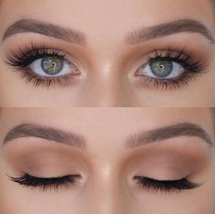 Bride Makeup Inspiration: Wedding Makeup - hochzeit makeup - Make Up Makeup Looks For Green Eyes, Different Makeup Looks, Natural Makeup Looks, Bridal Makeup For Green Eyes, Green Makeup, Soft Eye Makeup, Makeup For Green Dress, Simple Eye Makeup, Natural Eyeshadow Looks