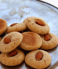 Crisp and Buttery Eggless Almond Cookies