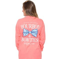 """I guess the only thing that's missing from the phrase """"bourbon & bow ties"""" are the words """"tee shirt."""" Show your appreciation for the best of the South with The Southern Shirt Co.'s bourbon & bow ties tee.  Double points if you drink some brown liquor while wearing the tee - triple points if you can pull off the bow tie as well."""