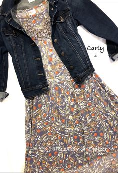 Gorgeous LuLaRoe Carly high low dress! Great outfit for wear to work, casual outings or travel. Add a jean jacket and statement necklace for style. So many amazing outfits and items available to shop on Facebook at LuLaRoe Randi Spiller