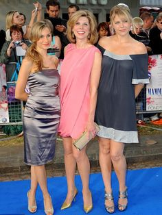 Christine Baranski with daughters Lily and Isabel