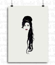 Amy Winehouse retrato. Lámina para enmarcar. Personalizable
