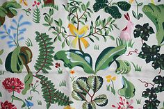 new Scandinavian fabric, called SILVIUS by Cecilia Hall for AHLENS linen cotton | eBay